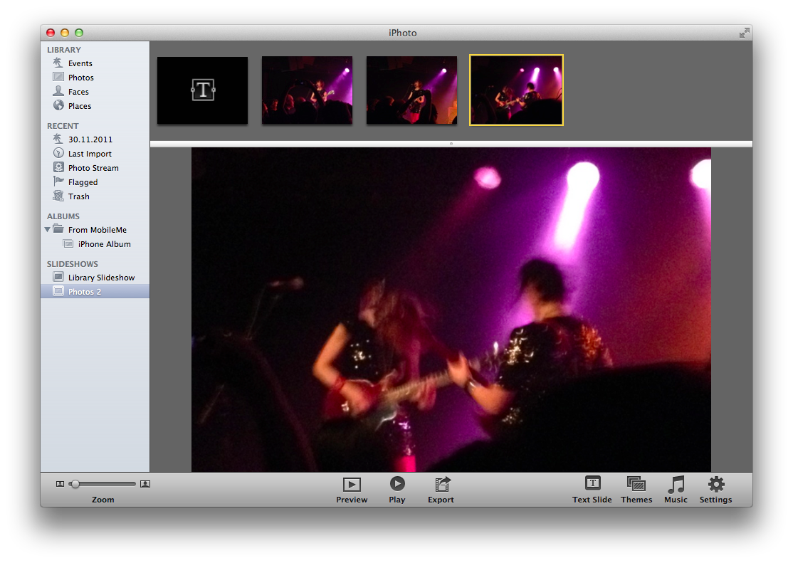 iPhoto: How to play a slideshow in random order - cpu20 com