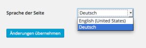 wordpress change language
