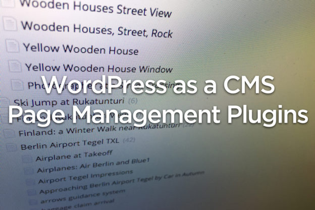 WordPress CMS – Page Management Plugins