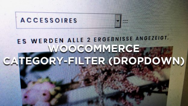 WooCommerce Category Filter Dropdown